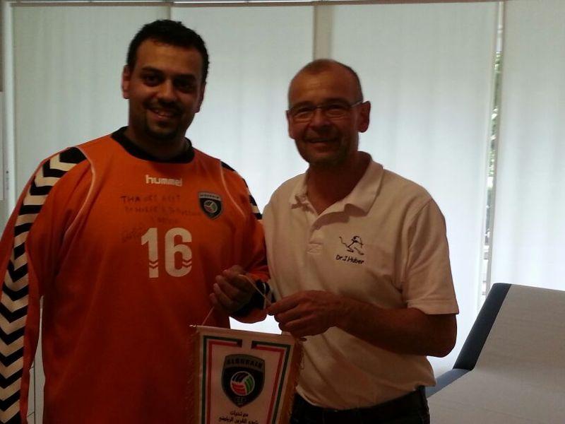 dr huber al rashedi handball nationalmannschaft kuwait 01 - Sportopaedie 2019